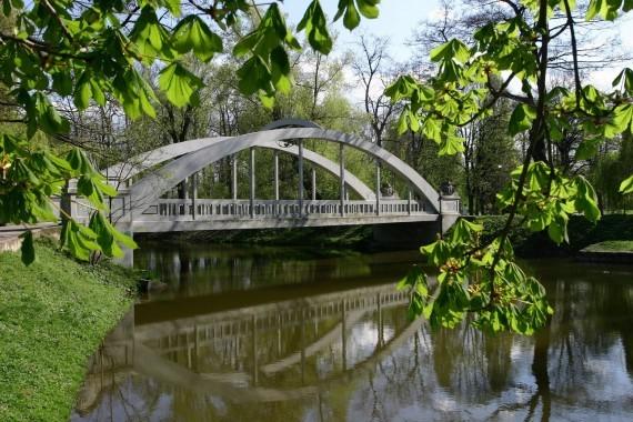 Park Centralny - zabytkowy most